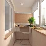 Практичный дизайн балкона от Rehau